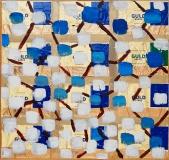 Blå byggesten, 33x37