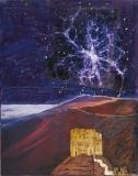 Mælkevej over gyldent kloster, 19x24