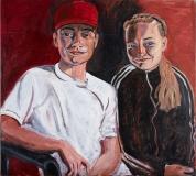 Bror og søster, 100x90